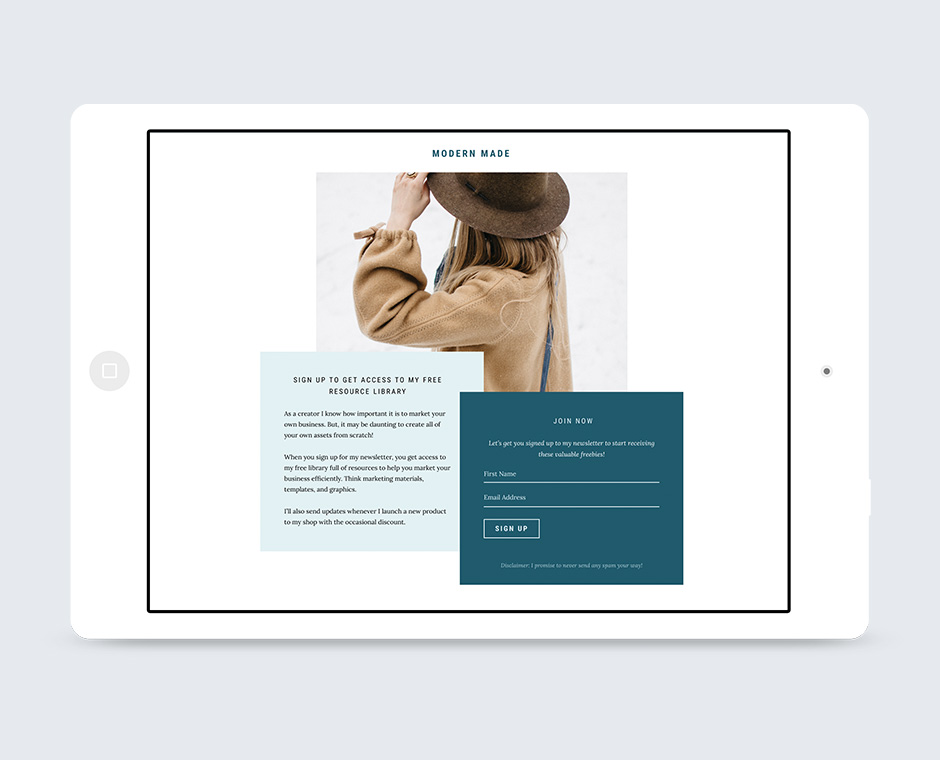 ConvertKit Madison Template