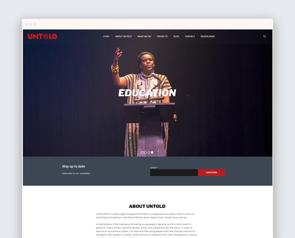 Stichting Untold Homepage